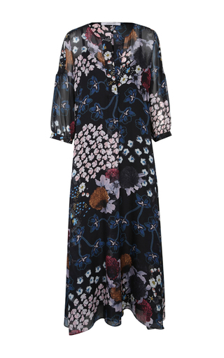Medium dorothee schumacher black airy florals dress