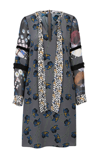 Medium dorothee schumacher dark grey recomposed flora dress