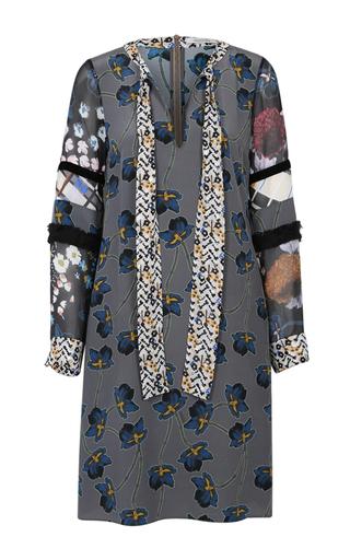 Medium dorothee schumacher dark grey recomposed flora dress