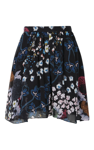 Medium dorothee schumacher black airy florals skirt