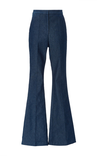 Medium macgraw navy flagman flare denim trouser