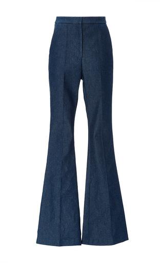 Medium macgraw navy flagman flare denim trouser