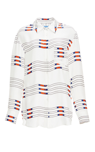Medium macgraw white pole print jockey shirt