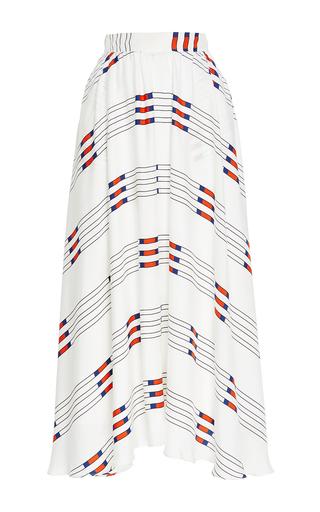 Medium macgraw white pole print dressage skirt