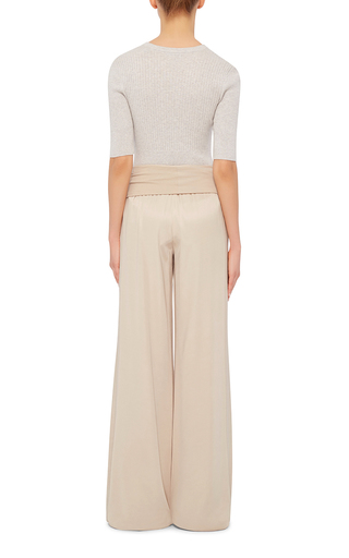 Wide Legged Yoga Pants by ATM Now Available on Moda Operandi