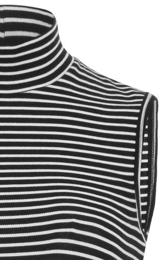 Striped Mock Neck Top by ATM Now Available on Moda Operandi