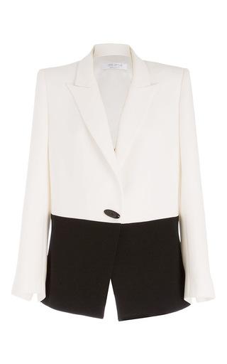 Medium carla zampatti white monochromatic antipodes jacket