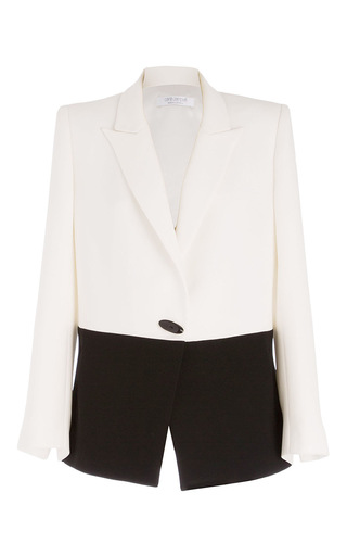 Medium carla zampatti white monochromatic antipodes jacket