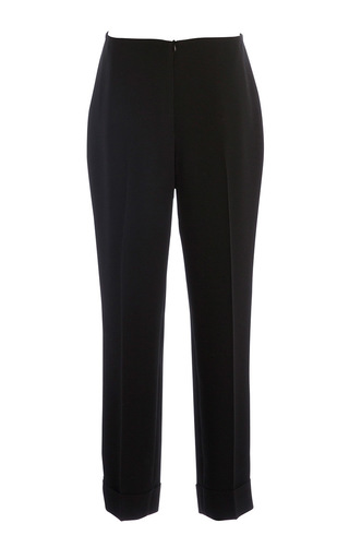 Medium carla zampatti black cigarillo cuff pant
