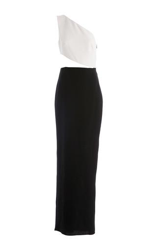 Medium carla zampatti black asymmetric antipodes gown