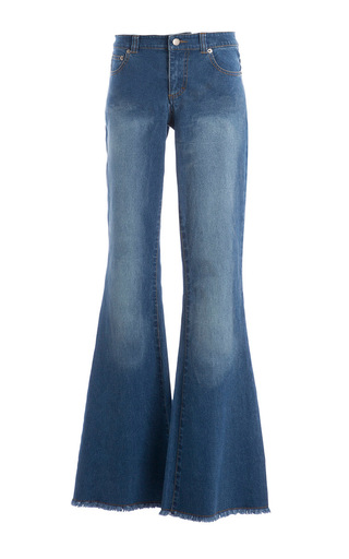 Medium carla zampatti blue rocking the 70s flare jean