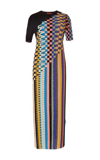 Medium missoni black woven checks knit dress