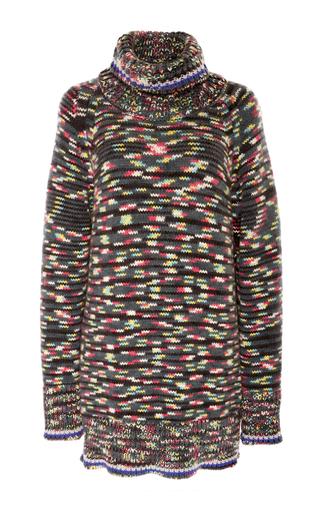 Medium missoni black flamed cashmere turtleneck sweater
