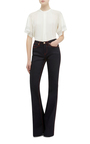 Luggage Stitch High Rise Flared Jeans by BURBERRY Now Available on Moda Operandi