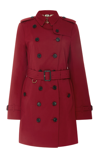 Medium burberry red sandringham double breasted trench coat