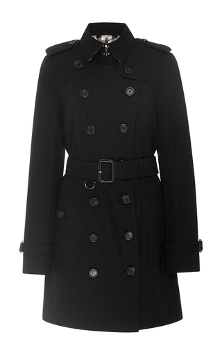 Medium burberry black sandringham double breasted trench coat  3