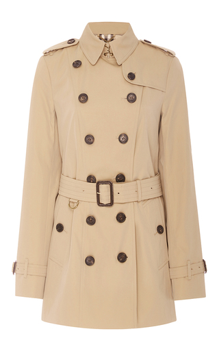 Medium burberry tan sandringham double breasted trench coat  4