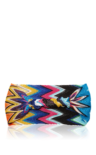 Iconic Striped Headband by MISSONI Now Available on Moda Operandi