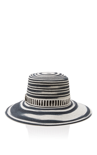 Medium missoni black white striped sun hat  2