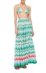 Zig Zag Sfumato Maxi Skirt  by MISSONI Now Available on Moda Operandi