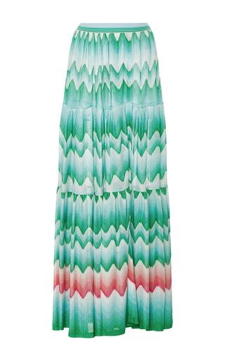 Medium missoni green zig zag sfumato maxi skirt