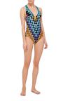 Zig Zag Metallic One Piece Swimsuit by MISSONI Now Available on Moda Operandi