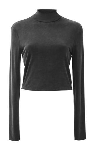 Medium needle thread black black heritage jersey top