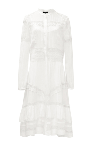 Medium needle thread white victoriana shirt dress