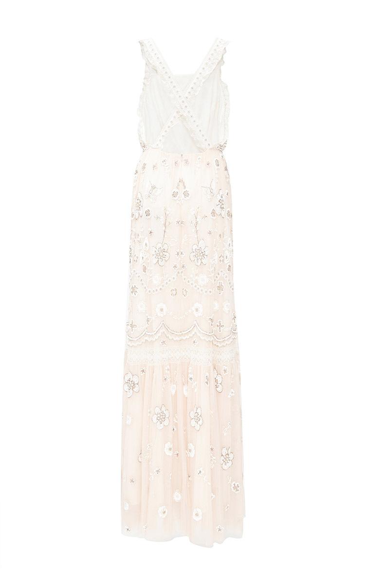 Embellished Bib Gown By Needle Amp Thread Moda Operandi