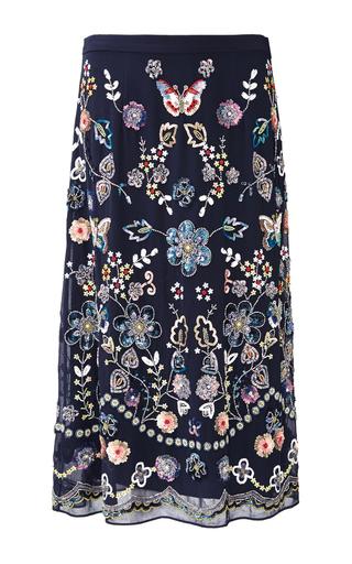 Medium needle thread floral butterfly garden skirt