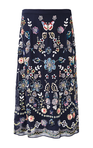 Medium needle thread floral butterfly garden skirt