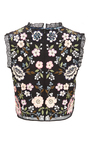 Embroidered Lace Top  by NEEDLE & THREAD Now Available on Moda Operandi