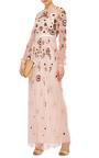 Petal Pink Woodland Lace Maxi Dress  by NEEDLE & THREAD Now Available on Moda Operandi