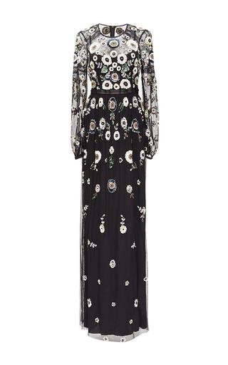 Medium needle thread black black woodland lace maxi dress