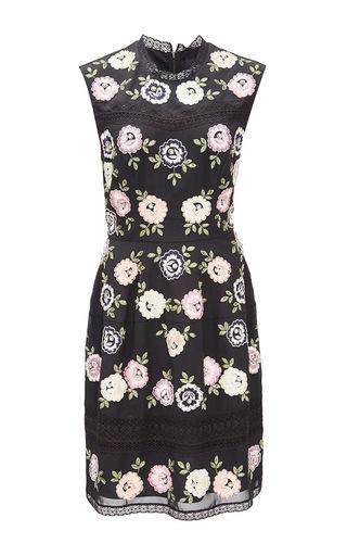 Medium needle thread black rose noir prom dress