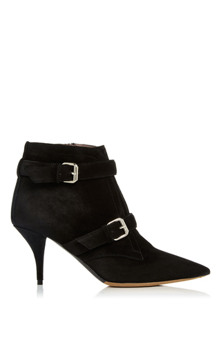 Medium tabitha simmons black fitz suede ankle boots