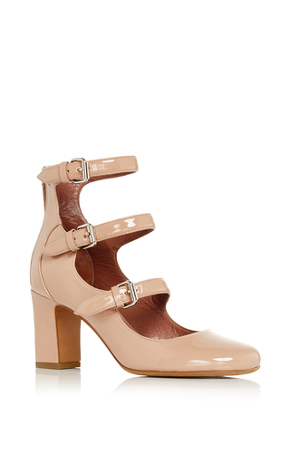 Medium tabitha simmons nude ginger patent leather pumps  2