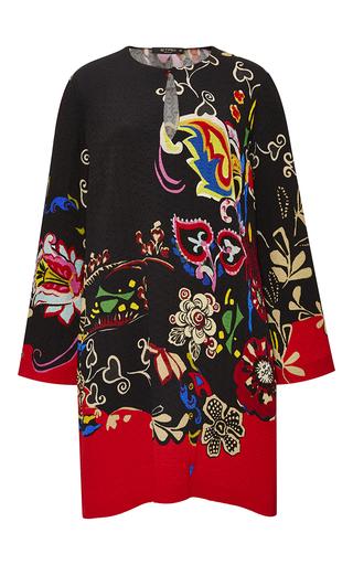 Medium etro black pop floral keyhole tunic