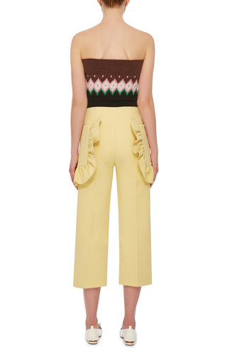 Strapless Cropped Blouse by MARNI Now Available on Moda Operandi