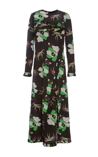 Medium marni floral lakota floral silk crepe dress