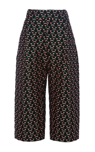 Medium marni black magi jacquard cropped trouser