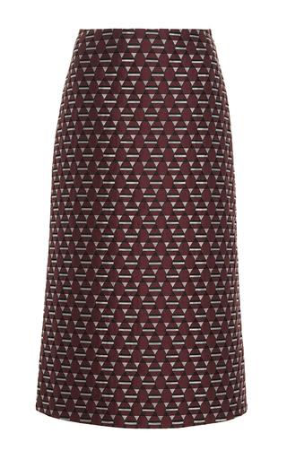 Medium marni burgundy magi jacquard a line skirt