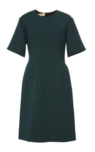 Medium marni green double face silk wool dress