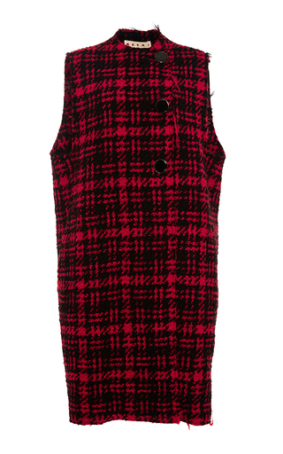 Medium marni plaid plaid wool button vest