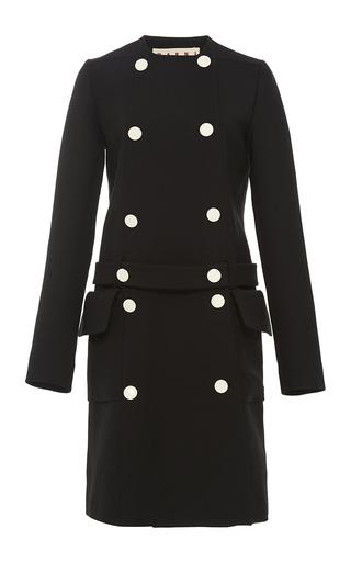 Medium marni black belted double face wool coat