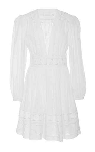 Medium zimmermann white realm embroidered mini dress