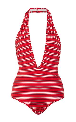 Medium zimmermann stripe roza striped one piece swimsuit