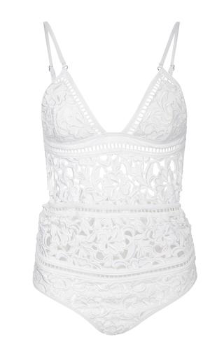 Medium zimmermann white roza cutout one piece swimsuit
