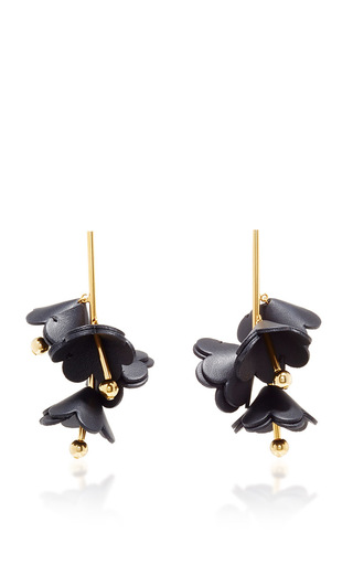 Medium marni black black leather earrings