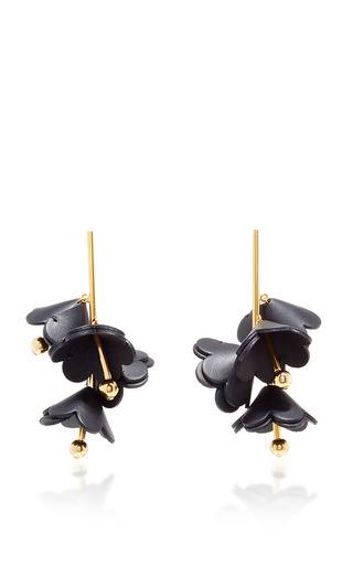 Medium marni black black leather earrings